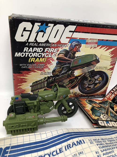 GIJOE Rapid Fire Motorcycle with box and instructions
