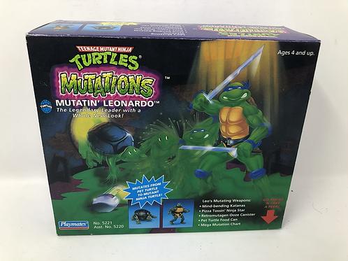 Tmnt Teenage Mutant Ninja Turtles Mutatin Leonardo 1989 Playmates