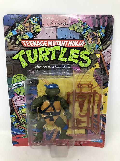 TMNT Teenage Mutant Ninja Tuetlea Leonardo Playmates Vintage Unpunched