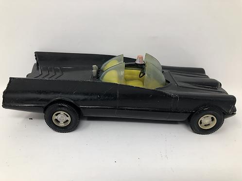 """Batman Plastic 7"""" Batmobile Simms 1970s"""