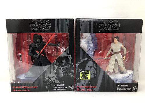 Star Wars Starkiller Base Kylo Ren / Rey set HAsbro