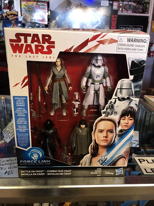 Star Wars The Last Jedi Battle On Crait 4 Pack Hasbro