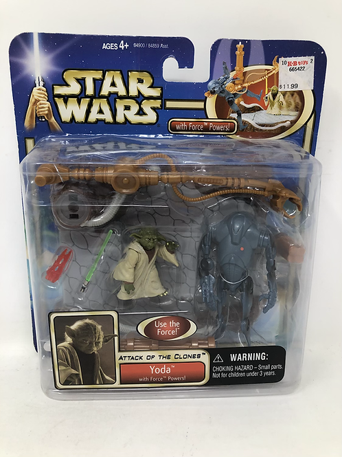 Star Wars Yoda with Force Powers Attack of the Clones Hasbro
