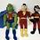 Thumbnail: DC Plush Lot Martian Manhunter, Shazam, Robin