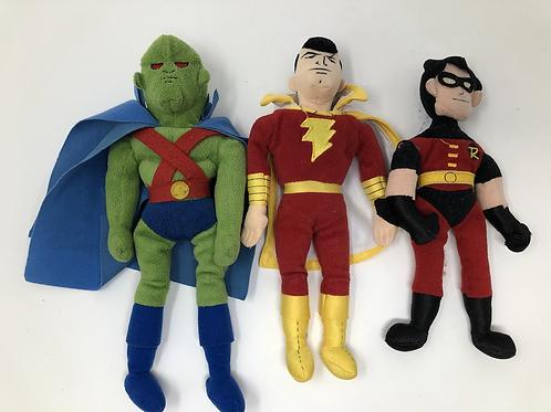 DC Plush Lot Martian Manhunter, Shazam, Robin