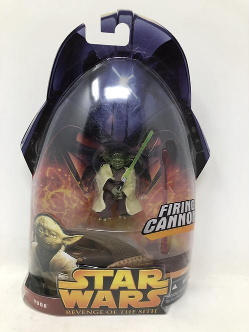 Star Wars ROTS Firing Cannon Yoda Hasbro