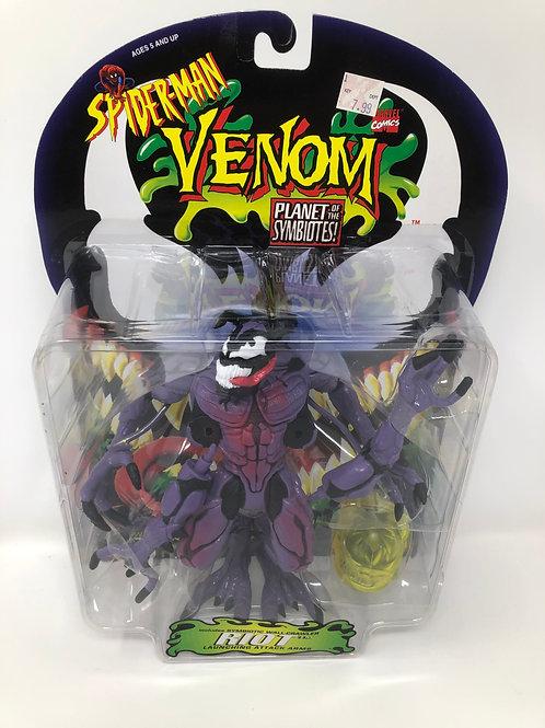 Spider-man Venom Riot Planet of the Symbiotes 1996 Toybiz
