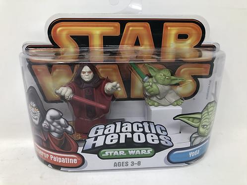 Star Wars Galactic Heroes Emperor Palpatine & Yoda Hasbro
