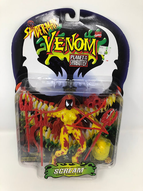 Spider-man Venom Scream Planet of the Symbiotes 1996 Toybiz