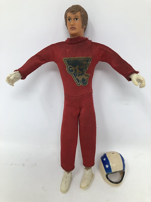 """Evel Knievel Bendy 7"""" 1972 Ideal Red Suit"""