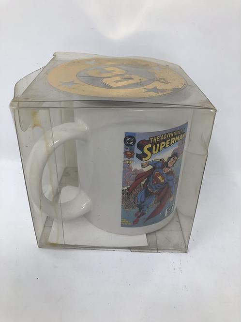 Superman DC Mug Signed by Hazlewood & Carlin
