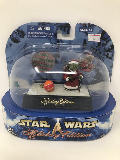 Star Wars Holiday Edition Yoda 2nd Edition 2003 Hasbro