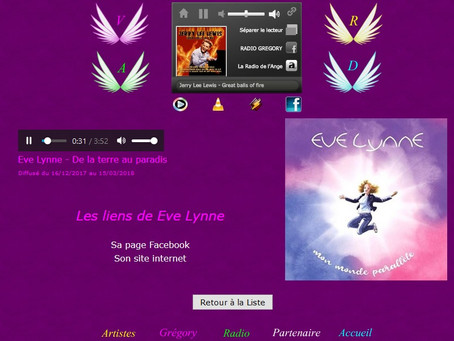 Eve Lynne sur Radio Grégory