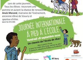 18 septembre - journée à pied à l'école APE Vouvry