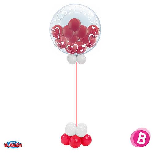 Colonne BubbleGum Love à l'hélium