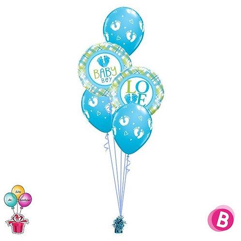 Bouquet naissance éléphant bleu Classic