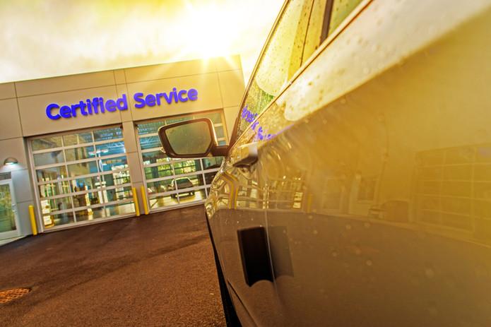 Car Service Auto Care Center. Car in Fro