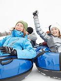 Friends Snow Tubing