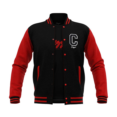 Cuzzo® Letterman Jacket (Black-Red)
