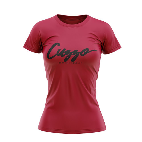 Cuzzo® Unisex Women's Signature Tee (Red-Blk)