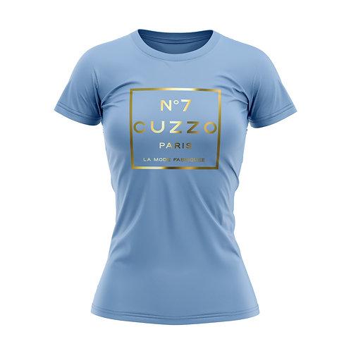 Cuzzo® Unisex Women's International Tee (Baby Blue-Gold Foil)