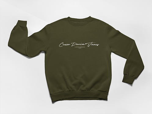 Cuzzo® Scripted Sweatshirt (Military Green)