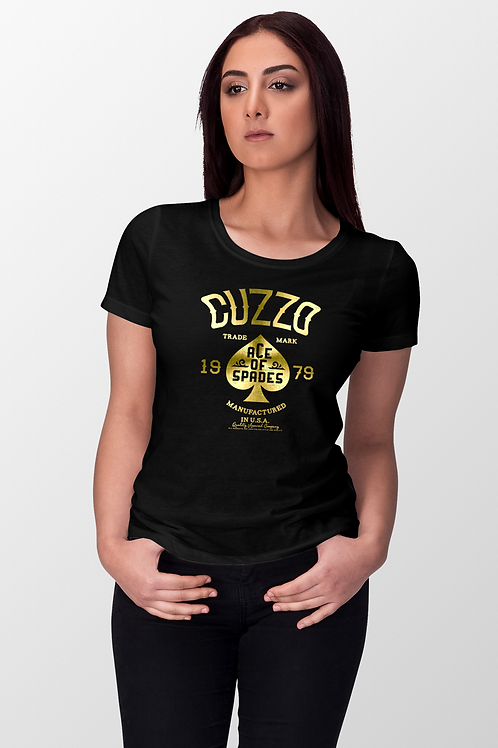 Cuzzo® Fitted Women's Ace Of Spades Black