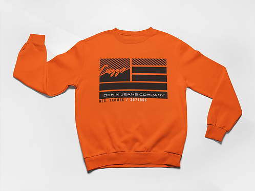 Cuzzo® Nation Flag Sweatshirt (Orange)