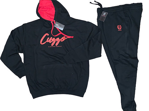 Cuzzo® Premium Signature Jogger Set (Black-Red)