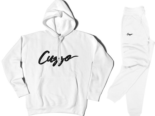 Cuzzo® Nation Jogger Set (White-Black)