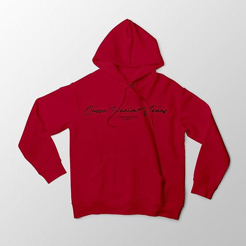 Cuzzo® Scripted Hoodie (Red-Black)