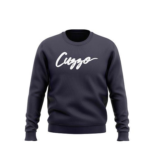 Cuzzo® Signature Crewneck Sweatshirt (Navy-White)