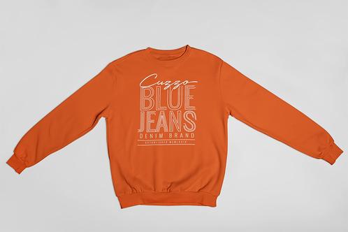 Cuzzo® Blue Jean Sweatshirt (Orange-White)
