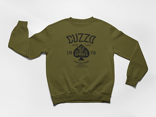 Cuzzo® Ace of Spades Sweatshirt (Olive-Black)