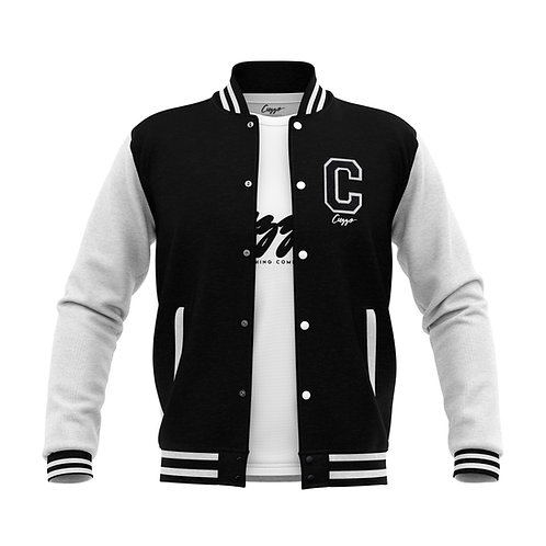 Cuzzo® Letterman Jacket (Blk-White)