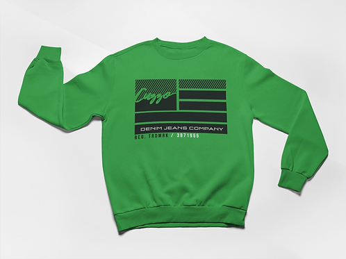 Cuzzo® Nation Flag Sweatshirt (Green)