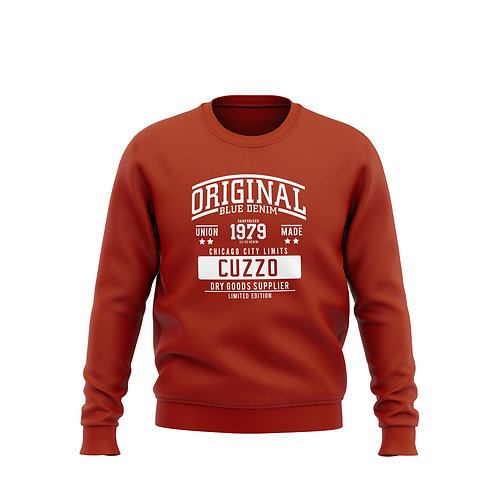 City-Limits Crewneck Sweatshirt (Red-White)