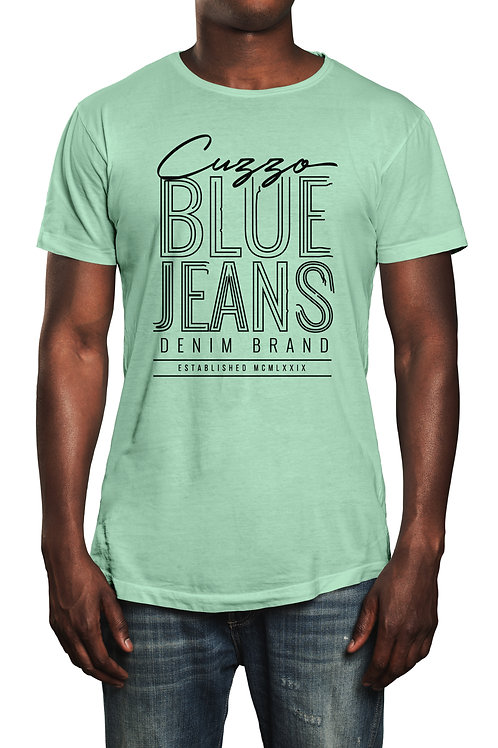 Cuzzo® Blue Jeans tee (Lime-White)