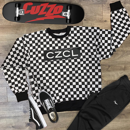 Cuzzo® Skater One Sweatshirt (Black-White)