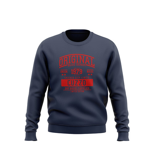 City-Limits Crewneck Sweatshirt (Navy-Red)