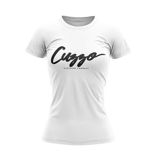 Cuzzo® Unisex Women's Signature Tee (Wht-Blk)