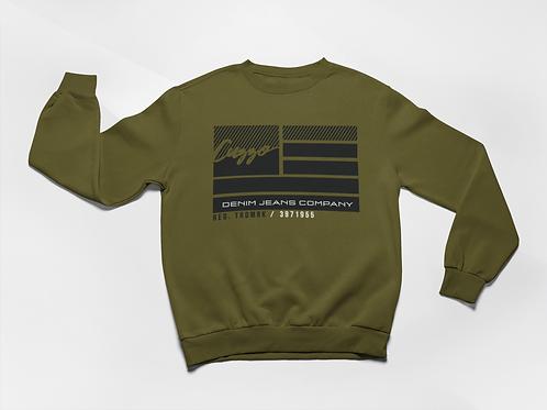 Cuzzo® Nation Flag Sweatshirt (Olive)