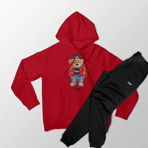Cuzzo® Cuzzy™ Hoodie Jogger Set (Red-Black)
