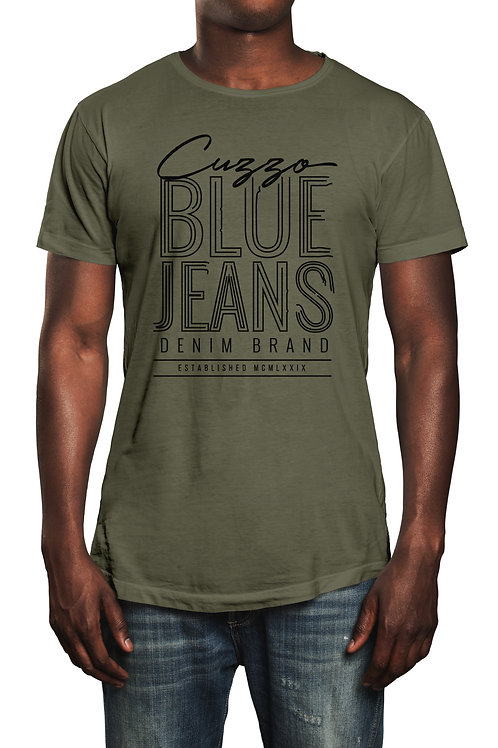 Cuzzo® Blue Jeans tee (Olive-Black)
