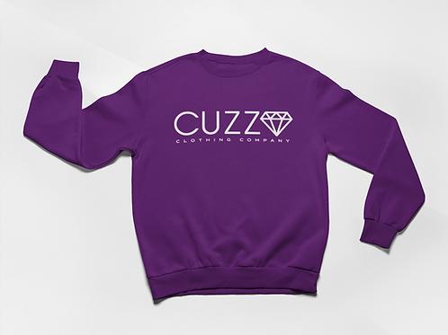 Cuzzo® Diamond Cut Sweatshirt (Purple-White)