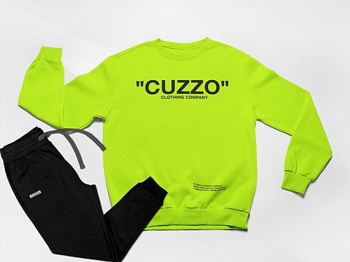 Cuzzo® Quote ME Jogger Set (Neon Green-Black)