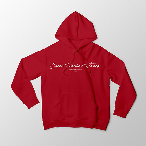Cuzzo® Scripted Hoodie (Red-White)