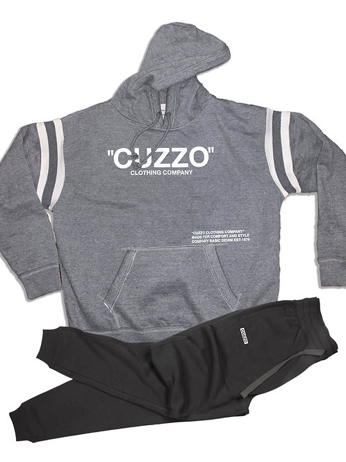 "Cuzzo® Premium ""Quote ME"" Jogger Set (Smoke Heather-Black)"