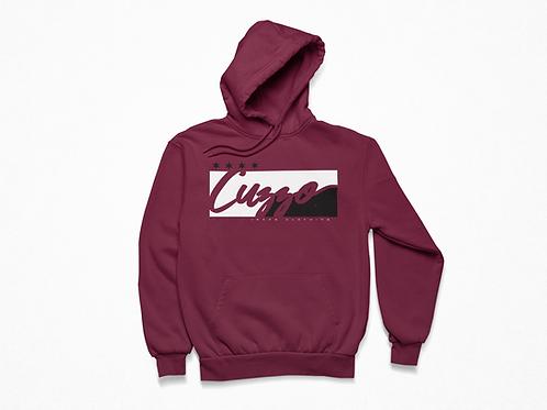 Cuzzo® Signature Block Hoodie  (Maroon/White)