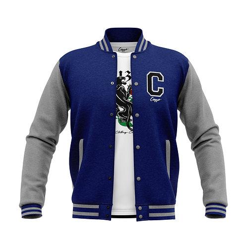 Cuzzo® Letterman Jacket (Royal-Heather Grey)